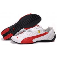 Womens Puma Wheelspin White Red 割引販売