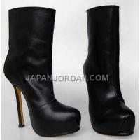 Yves Saint Lauren Fashion Sheepskin Ankle Boots Black 新着