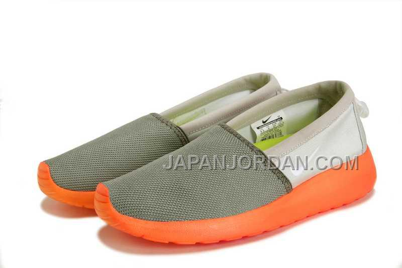 2014 Nike Roshe Run Slip On Couple Womens Dark Gray Shoes ホット販売