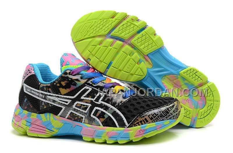 Asics Gel-Noosa Tri 8 Womens Black Green 本物の