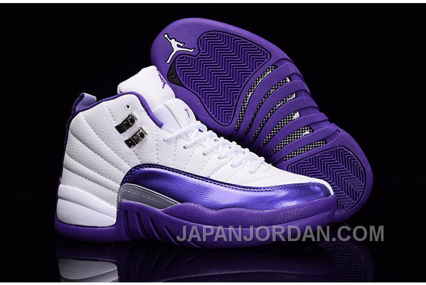 "huge discount bdb59 6434b 2018 Air Jordan 12 GS ""Kings"" Purple White New Release ..."