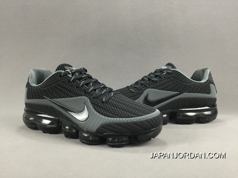 e9a8394a00891 NIKE AIR VAPORMAX FLYKNIT 2018 Black Grey Cheap To Buy