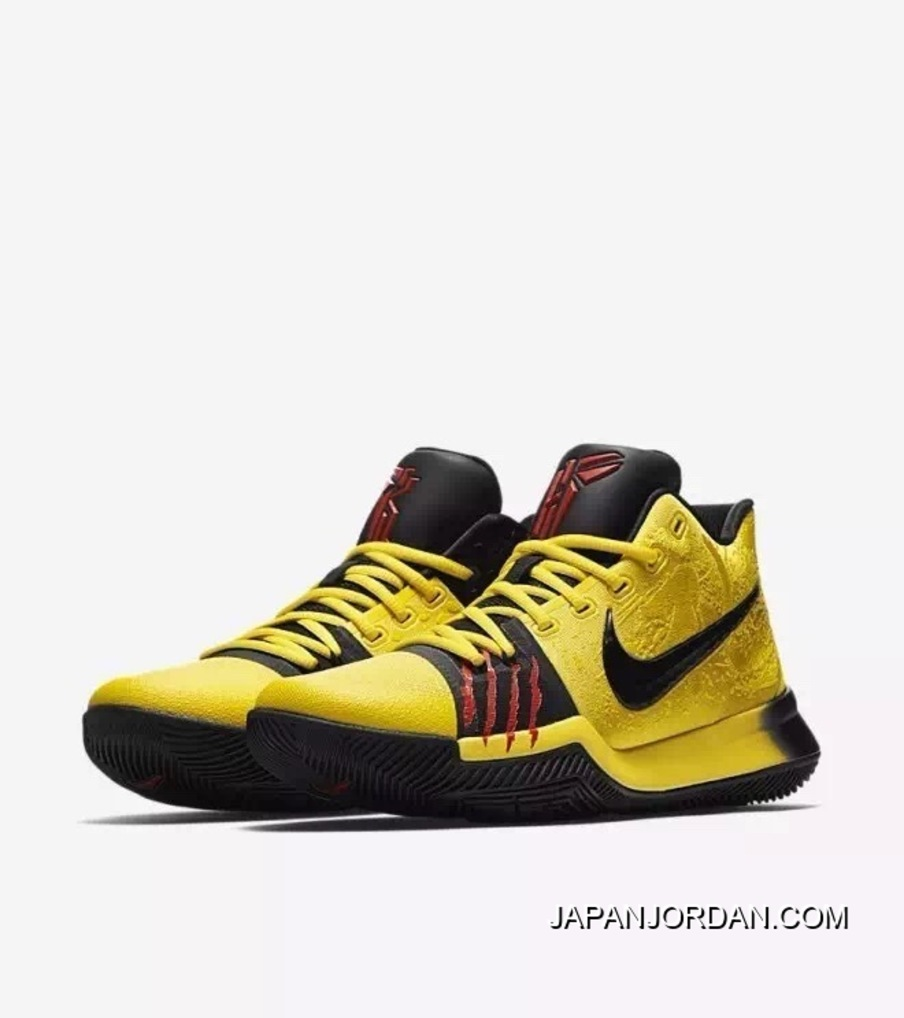 22484d2109a Nike Kyrie 3 Bruce Lee Men Basketball Shoe Authentic