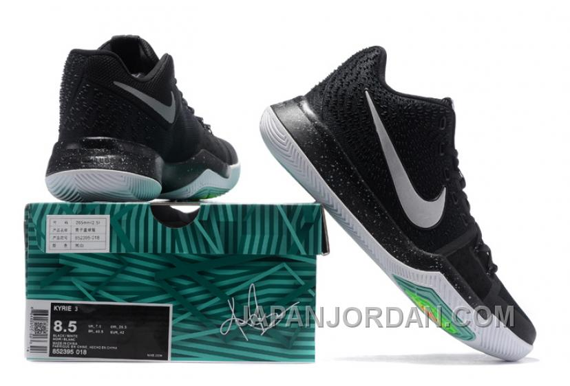 online retailer 9ce31 eeff2 Nike Kyrie 3 Mens BasketBall Shoes Black White Authentic ...