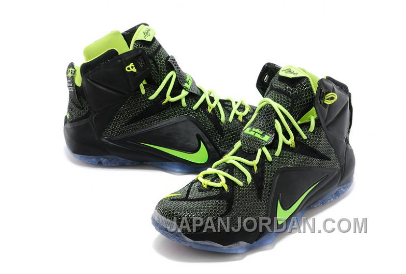 Nike LeBron 12 Black-Volt For Sale Cheap Online Free Shipping