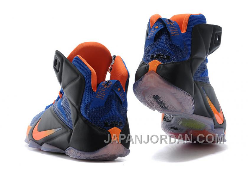 Nike LeBron 12 Hyper Blue/Black-Orange For Sale Discount