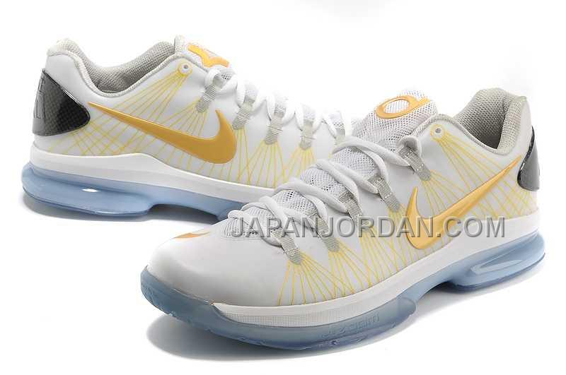 Nike KD V Elite Mens White Gold 本物の