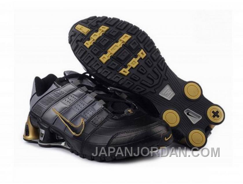 Men's Nike Shox NZ Shoes Black/Yellow Cheap To Buy
